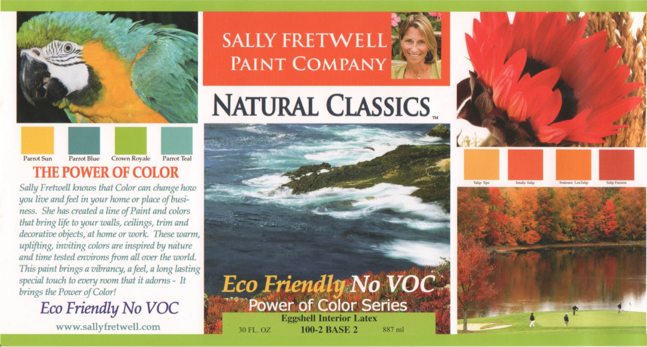 ECO Friendly Natural Paint Colors by Sally Fretwell